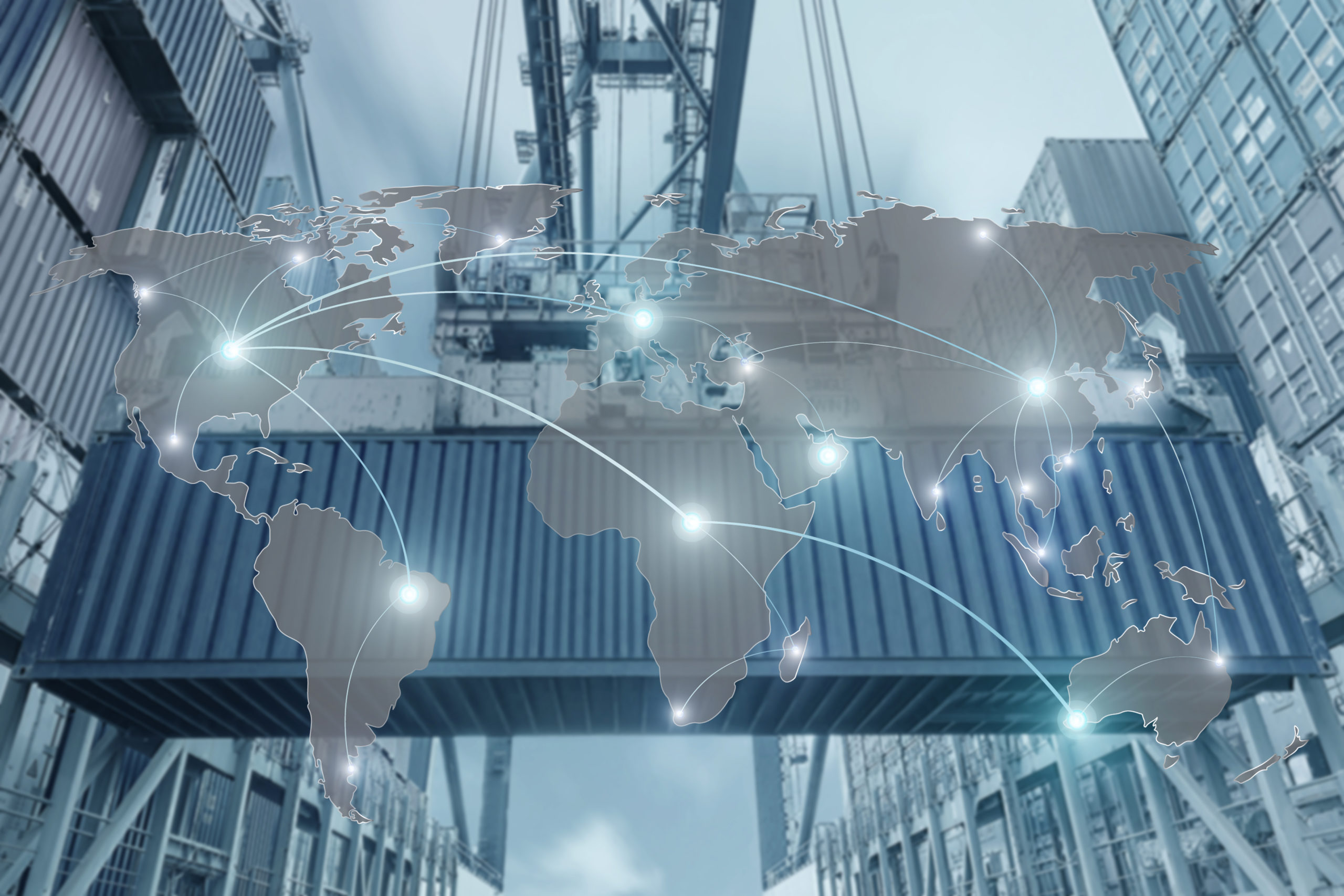 Map,Global,Logistics,Partnership,Connection,Of,Container,Cargo,Freight,Ship